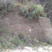Chłopy nieodkryte-wystający z wydmy fragment bunkrów?