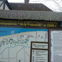 Tablice historyczne wzdłuż miejscowości