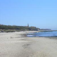 Plaża-widok w stronę Sarbinowa 1,2km