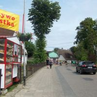 Główna ulica- Kapitańska-ze starą rybacką zabudową szachulcową