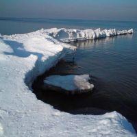 Widok plaży zimą